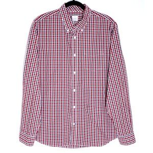 GAP Plaid Red White & Blue Men's Button Down Shirt